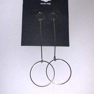 ⭐️2/$12 silver-tone dangle circle EARRINGS